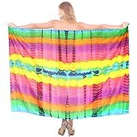 spiaggia delle donne coprire tie dye abito gonna avvolgente pareo