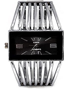 SSITG Damen Armbanduhr Spangenuhr Strass Armkette Armreif Uhr Quarzuhr gold silber Wrist Watch montre de