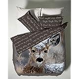 Catherine Lansfield CL Oh Deer - Juego de sábanas + bajera para cama de 105 cm