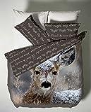 Catherine Lansfield CL Oh Deer - Juego de funda nórdica para cama de 105 cm