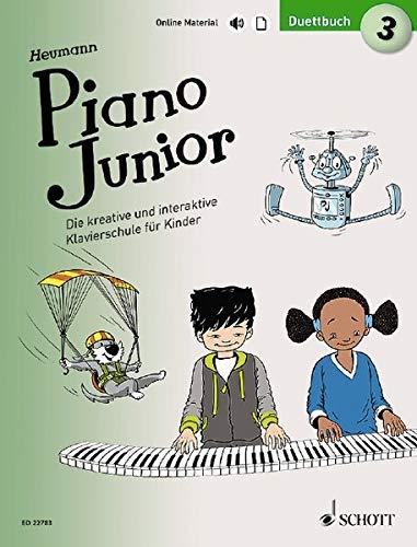 Piano Junior: Duettbuch 3: Vierhändiges Spielbuch zur Klavierschule. Band 3. Klavier 4-händig. Ausgabe mit verschiedenen Online-Materialien. (Piano Junior - deutsche Ausgabe)