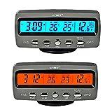 Itian LCD Automoción Electrónico Relojes, Interior del Coche y Termómetro Exterior, Monitorización de Voltaje, Despertador, Multifuncional Mesa - Itian - amazon.it