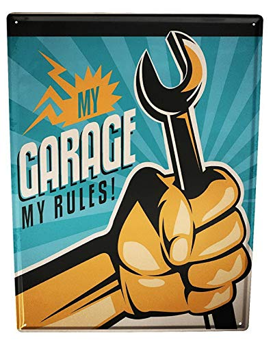 Harvesthouse Garage My Garage Gas Stations Vintage Metal Tin Sign, Wall Decor Plaque Poster,12x16 Inches - Gas Station Sign Display