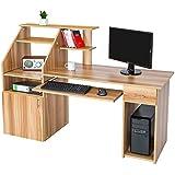 TecTake Mesa de ordenador de escritorio estudiante PC trabajo con cajón