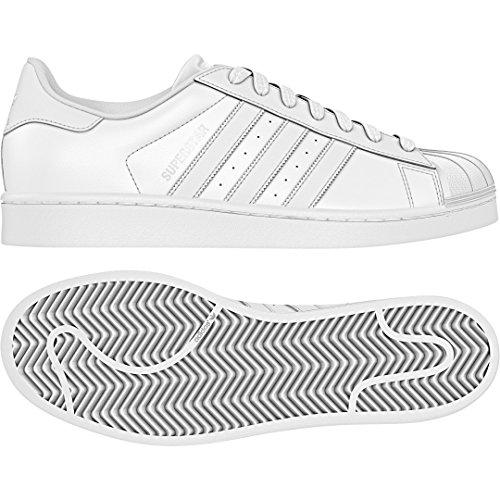 adidas Superstar, Chaussures de Gymnastique Homme Blanc Cassé (Ftwr White/ftwr White/ftwr White)