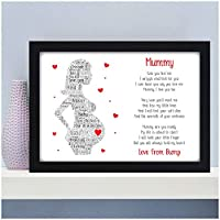 PERSONALISED Gifts for Mummy To Be Birthday Christmas Baby Shower Gifts - Bump Gifts for Expecting Mummy from Bump - Birthday Christmas Mothers Day Gift - A5 A4 Framed Prints or 18mm Wooden Blocks