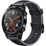 Huawei Watch GT - Montre Connectée (GPS, Ecran tactile, boîtier Inox 46mm) avec Bracelet Sport Noir