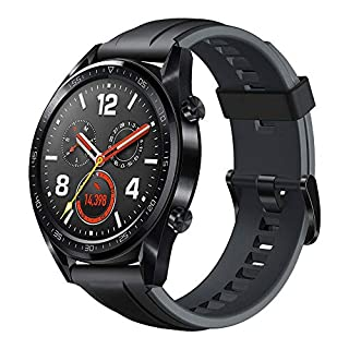 "Huawei Watch GT Orologio con Autonomia della Batteria fino a 2 Settimane, Impermeabile 5 ATM, GPS, TruSeen 3.0 Monitoraggio della Frequenza Cardiaca, Smartwatch, 1.39"" Touchscreen, Nero (B07H4Y9PG7) 