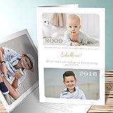 Schuleinführung Einladung, Von klein zu groß 5 Karten, Vertikale Klappkarte 105x148 inkl. weiße Umschläge, Braun