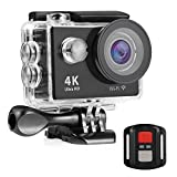 NEXGADGET 4K WIFI Action Kamera 12 MP 2.4 G RC Fernbedienung mit 170° Weitwinkel Sport Action...