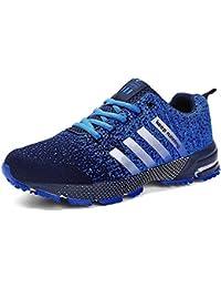 18e30fee9fa Fushiton Running Shoes Men - Air Cushion Mens Women Tennis Shoe Lightweight  Fashion Walking Sneakers Breathable