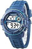 Xonix Herren Armbanduhr Stoppuhr mit 100 Zwischenzeiten WR100m + Box, NZX1BB5/1