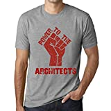 Photo de Homme T Shirt Graphique Imprimé Vintage Tee Power to Architects Gris Chiné par One in the City