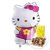Helium Ballon Hello Kitty und Belgische Pralinen