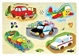 Woodyland Puzzle m. Tiradores DE Ruido Sonido Steckpuzzle Auto DE Madera Juguetes de Madera