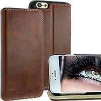 """Blumax® Apple iPhone 6 Ledertasche 4,7"""" Zoll für Original Apple iPhone 6/6s Handyhülle Flip Case Standfunktion Farbe antik-braun Handytasche"""