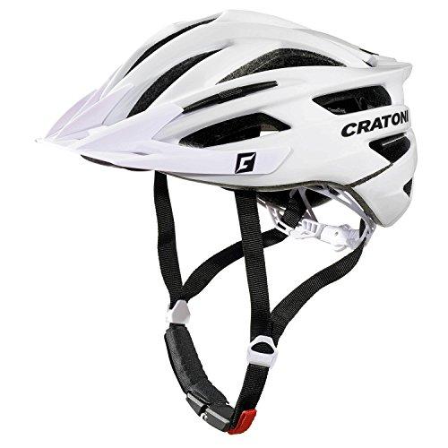 Cratoni Agravic Fahrradhelm, White Glossy, L-XL