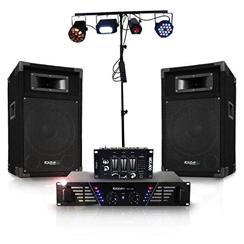 Pack sonorisation DISCO DJ300 et lumière à LEDs complet DJLIGHT90