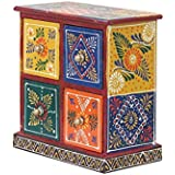 APKAMART Handicraft Jewelry Box - 7 Inch - Decorative Box Cum Utility Box For Table Decor, Home Decor, Desk Organizing And Gifts