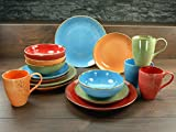 Creatable 19990, Serie Nature Collection Mediterran, Geschirrset 4 teilig Orange Single Set, Stein, Mehrfarbig, 30 x 16 x 32 cm, 4-Einheiten