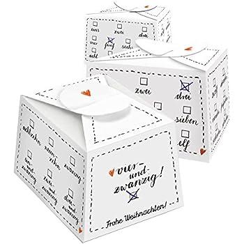 Adventskalender, 24 Bio Boxen braun, zum selbst Befüllen