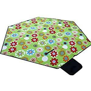 Outdoor Hexagonal Enlarged Thickened Picnic Mats Camping Tide Pads Crawling Mats Cushions 240 * 240cm,Green