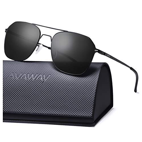 AVAWAY Ultraleicht Verspiegelte Sonnenbrille für Herren und Damen, Nylon Gläser mit UV400 Schutz Sonnenbrille