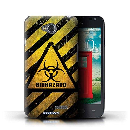 Kobalt® Imprimé Etui / Coque pour LG L65/D280 / Biohazard conception / Série Signes de Danger Biohazard
