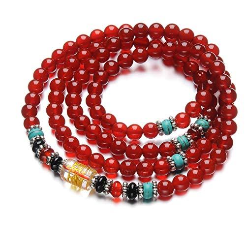WFYJY-Kaiguang Natürlichen Pulver Crystal 108 Buddha Perlen Armbänder Multi-Ring-Armbänder Hand-Schmuck Für Das Jahr des Schicksals Hundert Paare Von Schmuck Und Geschenke EIN