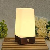 Wireless PIR Motion Sensor LED Night Light Battery Powered Table Lamp