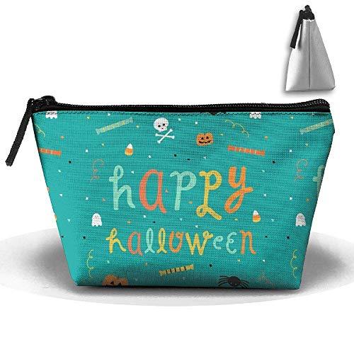 aschen-Bürstentasche Happy Halloween Makeup Bag Zipper Wallet Hangbag ()