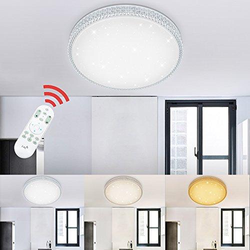 Vingo 50w Led Deckenlampe Dimmbar Starlight Effekt Deckenbeleuchtung Wohnzimmer Wandlampe Schlafzimmer Deckenleuchte Sternen Kristall Deko