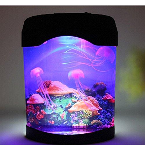 Novedad LED medusas artificiales iluminación acuario