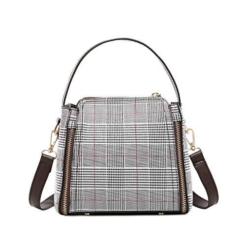 Ears Damen Messenger Bag Basic Crossbody Handtasche Lässige Umhängetasche Geldbörsen Freizeit Reisetaschen Vintage Picknickrucksäcke Beiläufig Schultaschen-Sets Solid Casual Brieftasche
