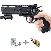 KIT revólver Umarex UX Tornado LÁSER - Pistola de aire comprimido (CO2) y balines de acero (perdigones BBS) calibre 4.5mm. Réplica + accesorios <3,5J