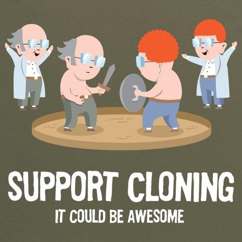 Support Cloning T-Shirt, Damen Olivgrn
