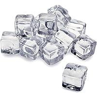 Artificial acrílico cubitos de hielo 1kg Bolsa de 50(aprox.)–decorativo Fake cubitos de hielo para pantallas