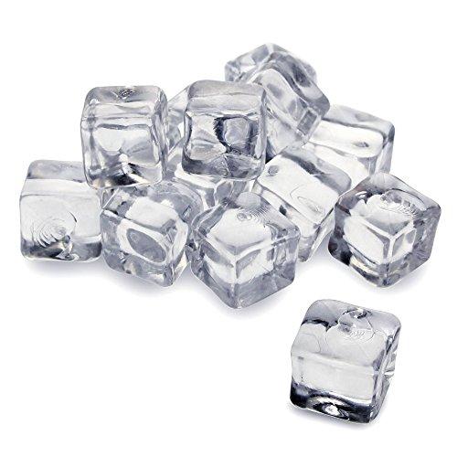 Cubitos de hielo artificiales, de acrílico, 1 kg, bolsa de 50 unidade