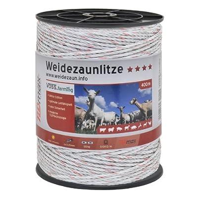 Weidezaun Litze 400m, 6x0,25 TLD, weiss von Voss.farming bei Du und dein Garten