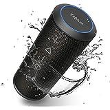Zamkol Enceinte Bluetooth Portable, Waterproof Haut-Parleur Bluetooth Enceinte d'extérieur sans Fil 24W, 360° HD Bass Pilote Double, Bluetooth 4.2, étanche IPX6, Mains Libres et Technologie TWS