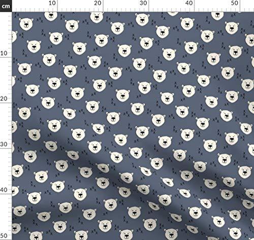Bär, Blau, Dunkel, Eisbär, Modisch, Littlearrow Stoffe - Individuell Bedruckt von Spoonflower - Design von Littlearrowdesign Gedruckt auf Bio Baumwoll Interlock-Jersey -