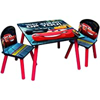 Preisvergleich für Disney Cars Sitzgruppe Tisch 2 Stühle aus Holz, Cars3 Kindermöbel
