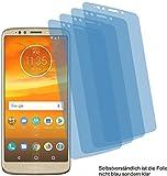 4ProTec 4X Crystal Clear klar Schutzfolie für Motorola Moto E5 Plus Bildschirmschutzfolie Displayschutzfolie Schutzhülle Bildschirmschutz Bildschirmfolie Folie