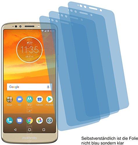 4ProTec 4X Crystal Clear klar Schutzfolie für Motorola Moto E5 Plus Displayschutzfolie Bildschirmschutzfolie Schutzhülle Displayschutz Displayfolie Folie