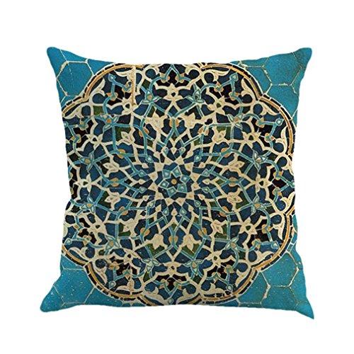 DEFFWB Clearance! Pillowcase, 2017 Bohemian Geometry Painting Linen Cushion Cover Throw Pillow Case Sofa Home Decor 18 X 18 Inch (Sofas-clearance Sofa Und)