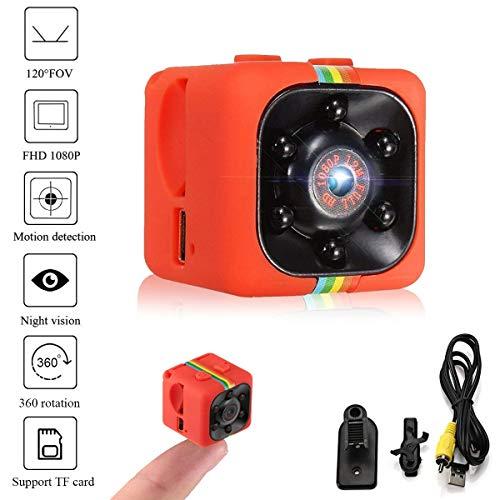 Lovearn Mini Camera SQ11 Camcorder HD 1080P Camcorder Sport Mini-DV-Videorecorder Spion-Kameras mit Nachtsicht und Bewegungserkennung Überwachungskamera (red) Spy Wlan-camcorder