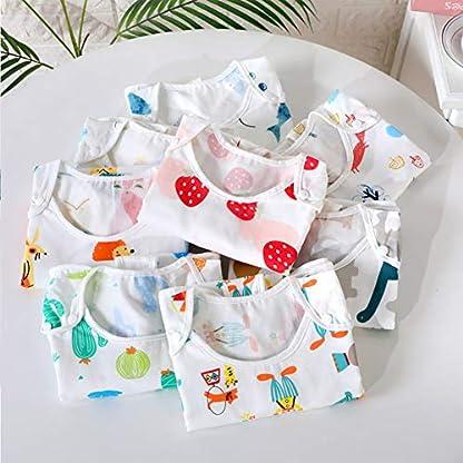 FEOYA – Saco de Dormir para Bebés de Algodón para Verano Pie Separado sin Manga Cierra de Cremallera Estampado Lindo de Animal