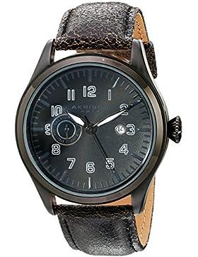 Akribos XXIV Herren-Armbanduhr Analog Quarz AK785BK