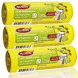 Duft Müllbeutel - 25 Liter (75 Stück) - Mit Tragegriffen - dezent duftend - 3er Pack (3 x 25 Stück) - Ideal für Haushalt- Büro- und Badeimer