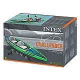 Intex Schlauchboot Aufblasbares Kajak Boot Challenger K2 Phthalates Free Inkl. 84 Paddel und Luftpumpe, 351 X 76 X 38 cm, 68306NP Test